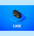 case isometric icon isolated on color background vector image vector image