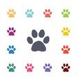 cat footprint flat icons set vector image vector image