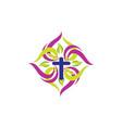 christian church logo vector image vector image