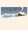 Christmas winter landscape design vector image vector image