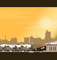cityscape at sunset panorama street vector image vector image