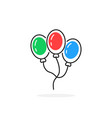colored thin line balloon icon vector image