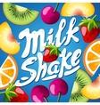 Cover for food product Multifruit Kiwi orange vector image