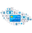 credit card and financial icon set banking credit vector image