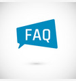 faq icon frequently asked question as speech vector image vector image