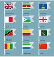 Flags set four-07 vector image vector image