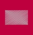 flat shading style icon brick wall vector image
