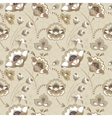 Floral seamless pattern in beige color vector image