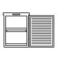 fridge icon outline style vector image vector image