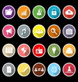 General document icons with long shadow vector image vector image