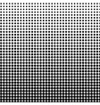 halftone background black-white dot vector image