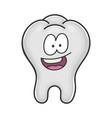 happy cute smiling tooth cartoon vector image vector image