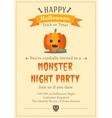 Happy Halloween backgraund vector image vector image