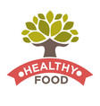 healthy food product label or isolated icon vector image