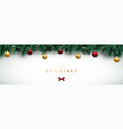 holiday background with fir tree branches vector image vector image