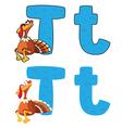 letter T turkey vector image