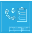 Medical consultration sign White section of icon vector image vector image