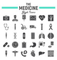 medicine glyph icon set medical signs collection vector image vector image