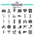 medicine glyph icon set medical signs collection vector image vector image
