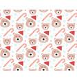 merry christmas seamless pattern cute teddy bear vector image vector image
