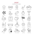 Modern thin line of icons on sports themes vector image vector image