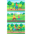 moms spending time with kids set of vector image vector image