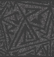 monochrome maze seamless pattern vector image vector image