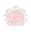 monoline calligraphy phrase happy vector image vector image