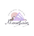 mountain logo tourism hiking and outdoor vector image