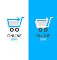 online store design logo vector image vector image