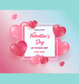 realistic 3d colorful red and pink romantic vector image vector image