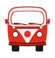 red van isolated icon design vector image vector image