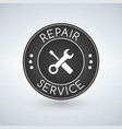 repair service label logo design template vector image