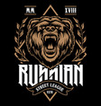 russian bear art vector image vector image