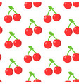 seamless pattern with cherry in flat style vector image vector image