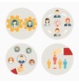Set of business people and staff icons vector image