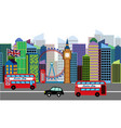 set skyline or cityscape london vector image