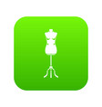 sewing mannequin icon digital green vector image