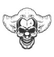 skull angry clown vector image