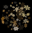 snow flakes falling macro design vector image vector image