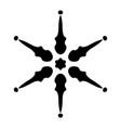snowflake 29 0 vector image vector image