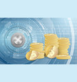 stacks of dollar coins on abstract background vector image