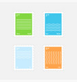 stamps four elements vector image