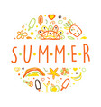 summer banner template with holiday symbols vector image vector image