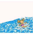 Summer fun in aqua park vector image