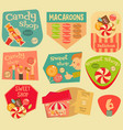 sweet stickers vector image vector image