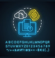 upload neon light concept icon data transfer idea vector image