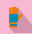 winter gloves icon flat style vector image