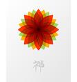 Zen lotus flower concept vector image vector image