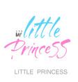 little princess lettering vector image